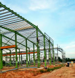 Edificio estable prefabricado del taller de la estructura de acero