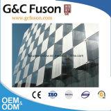 Parete divisoria di vetro di prezzi poco costosi della parete divisoria/blocco per grafici di alluminio visibile/prezzo di vetro della parete divisoria