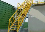 Reja de la barandilla de la escalera de la fibra de vidrio FRP GRP