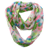 Frauen-Form-Blume gedruckter Polyester-Chiffon- Unbegrenztheits-Sommer-Schal (YKY1108)