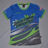 T-Shirt der sublimierten Dame/Stück-Hemd der Sublimation-Frauen/kundenspezifisches Dame-T-Stück