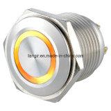 Ls16 16mm wasserdichtes flaches Edelstahl-Ring-momentanes Metallelektrischer Drucktastenschalter