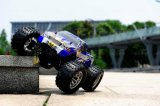 Carro cheio do gás RC do modelo do metal do nitro brinquedo da liga da potência