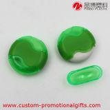 Sacapuntas de lápiz manuales plásticos de la dimensión de una variable redonda del color verde