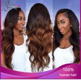 Cheveux humains d'onde non transformée de corps de 100%