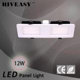 12W LED helles Panel-Gitter-Licht mit Cer und RoHS 2*1 LED Instrumententafel-Leuchte