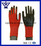 Перчатка хлопка, перчатки безопасности, хлопок PVC, Nylon перчатки (SYST04)