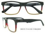 Venda por atacado quadros de espetáculo de óculos de acetato de madeira feitos à mão de alta qualidade