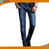 長の熱い販売法の人の綿青いデザイン方法デニムのジーンズ