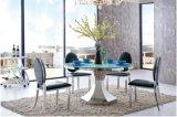 2016現代ガラスダイニングテーブルおよびステンレス鋼のダイニングテーブル