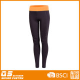Deportes de las mujeres que funcionan con los pantalones de secado rápido del poliester/del Spandex