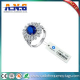 O Tag da etiqueta da jóia da freqüência ultraelevada RFID aplica-se à gerência conservada em estoque da jóia