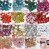 예술 도매 Ibn 상표 53 색깔 못 모조 다이아몬드를 네일링하십시오