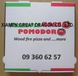 유럽 작풍 얇은 계기 물결 모양 Kraft 피자 상자 (PB160628)