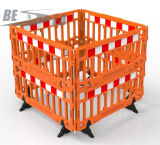 쌓을수 있는 도로 안전 방벽 담을 부는 HDPE 플라스틱