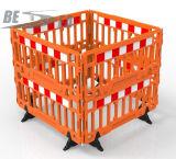 HDPE Plastik, der stapelbaren Verkehrssicherheit-Sperren-Zaun durchbrennt