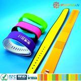 pulsera de la venda de muñeca del sistema de pago del E-boleto 13.56MHz MIFARE DESFire EV1 2K RFID