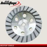 Rotella stridente del Turbo della rotella della tazza del diamante basso di alluminio per granito