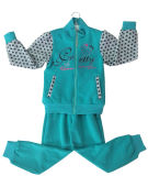 Ватка/французские костюмы спорта Терри Gilr в одеждах детей, износе детей (пуловере coat+pant застежки -молнии)
