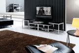 Carrinho da tevê/mobília da sala de visitas/tabela aço inoxidável/mobília Home/tabela moderna/tabela de vidro/tabela Dg016 vidro Tempered