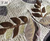 特別な基礎地面の葉パターンシュニールのジャカードファブリック