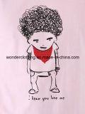 Le T-shirt de coton de mode estampés par dessin animé drôle fait sur commande de vente en gros des hommes d'été