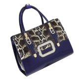 Mode de peau de serpent en cuir de peau PU Women Handbags