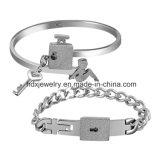De gepersonaliseerde Armband van de Manier van de Paren van het Slot van de Juwelen van het Roestvrij staal Zeer belangrijke