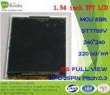 """1.54 """" IPS 240*240 MCU 8bit 25pin hanno personalizzato la visualizzazione a piena vista dell'affissione a cristalli liquidi di TFT"""