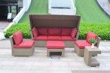 Jardin Patio Lounger Chaise de plage Rattan Tent Sofa Granada Lounge Set Mobilier d'extérieur (J547)