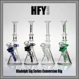 Hfy neues 7mm Stärke Illadelph Glasglaswasser-Pfeife an der Becher-Unterseite irgendein Flaschen-Wasser-Rohr
