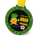 黒いカラーのカスタムマラソンの実行の競争メダル