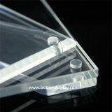 O dobro acrílico desobstruído do vidro orgânico toma o partido frame de retrato magnético