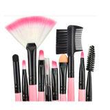 conjunto de cepillo cosmético profesional del maquillaje 24PCS con la caja de la PU