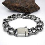 Schmucksache-Silber-Farben-Kette des PunkEdelstahl-Armband-Mannes
