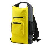 Sac de sac à dos de natation de PVC d'épreuve de l'eau avec la poche de maille