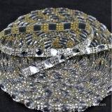 Libero con la fascia nuziale di cerimonia nuziale del Rhinestone della fascia della torta di cerimonia nuziale del testo fisso della cinghia del vestito del cristallo 1.5cm da immaginazione d'argento di larghezza (TS-048)