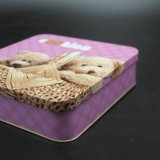 Cartoon Printing Square Tin Box / Metal Box para Chocolate (S006-V6)