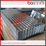 Placa de acero acanalada galvanizada SGCC de la hoja de acero para el material para techos del metal