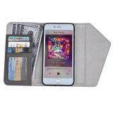 Caisse par la carte de crédit de cuir de caisse de téléphone de pochette de C&T universelle pour iPhone6 plus /7 plus