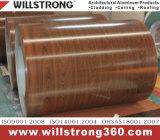 木製の穀物のPEのコーティングが付いているアルミニウムコイル