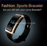 Pedometer intelligent de moniteur de fréquence cardiaque et de sommeil de montre de bracelet imperméable à l'eau de sport de Bluetooth 4.0 pour l'androïde