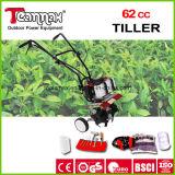 Cultivador 62cc buena calificación de mano rotatoria del timón