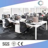 Poste de travail modulaire de bureau d'ordinateur de personnel administratif de qualité avec la partition