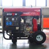 バイソン((h) 6kw 6kVA中国) BS7500dce長期間Time1年の保証のディーゼル発電機セットのディーゼルGenset 6kVAの発電機のディーゼル