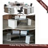 Hx-0803 modern Ontwerp 4 de Lijst van het Bureau van de Vorm van L van het Werkstation van Zetels