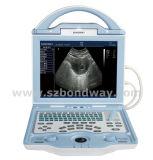 Scanner di ultrasuono con la sonda per il veterinario
