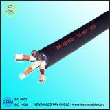 Câble d'alimentation en caoutchouc du CEI Standand 300-500V de VDE H05rn-F