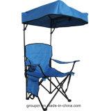 Silla de playa plegable de la silla que acampa del Portable con el pabellón