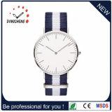 Relógio do esporte de Dw de quartzo da forma e da moda com a faixa fina do caso e do nylon (DC-1006)